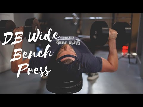 Dumbbell Wide Grip Bench Press