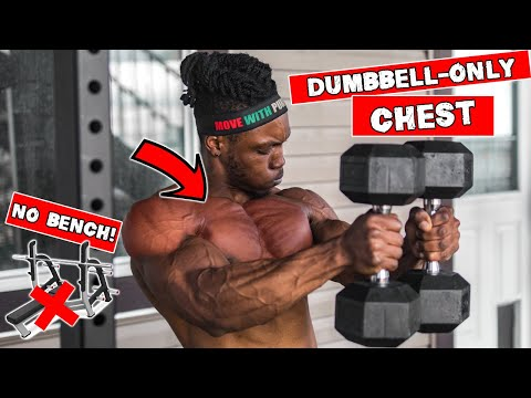 DUMBBELL CHEST WORKOUT AT HOME | NO BENCH NEEDED!
