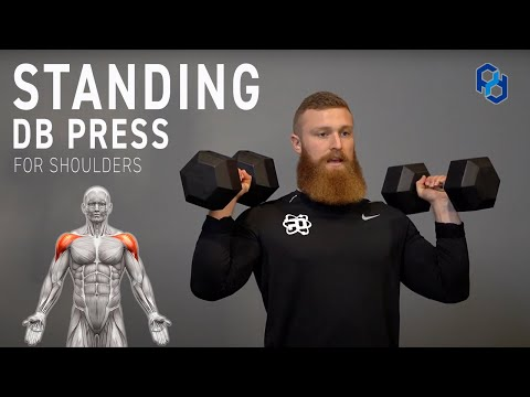 How to: Standing DB Shoulder Press for Physique Development