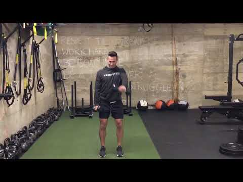 Dumbbell Crossover Front Raise