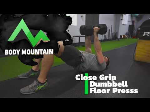 Dumbbell Close-Grip Floor Press -HERE'S HOW! THE RIGHT WAY!