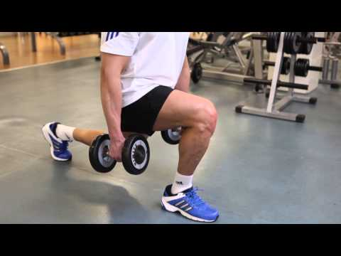 Dumbbell Lunges - Thighs Exercise