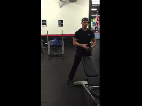 Single Arm Dumbbell Crossover