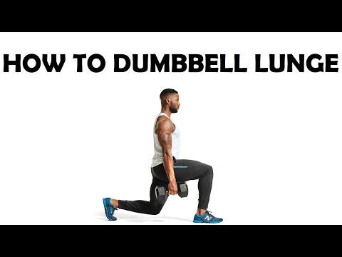 How to DUMBBELL LUNGE | FORWARD LUNGE Leg Exercise | Dumbbell Lunges FOR BEGINNERS