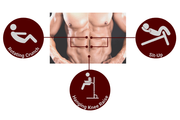 resistance training exercises are required to build your abs