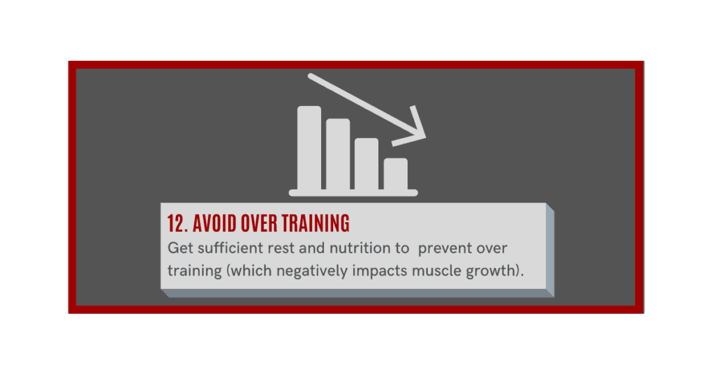 how can i gain muscle fast? avoid over training