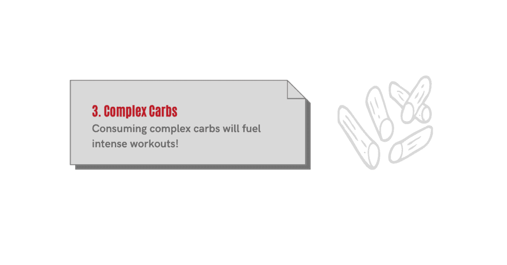 complex carbs fuel bicep workouts.