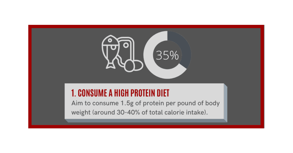 how can i gain muscle fast? consume a high protein diet.