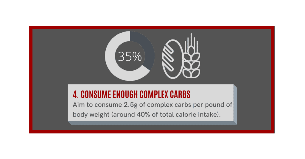 how can i gain muscle fast? consume complex carbs