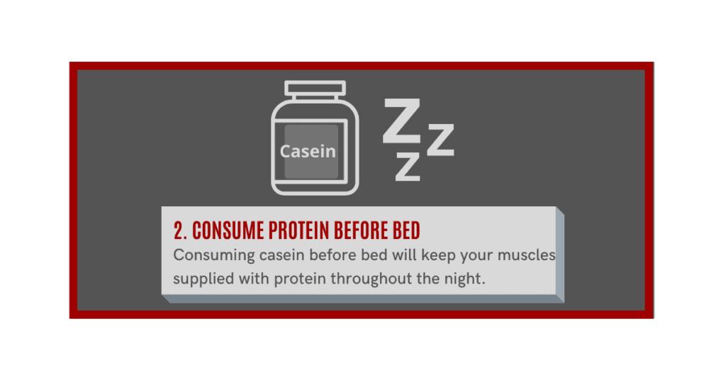 how can i gain muscle fast?  consume protein before bed