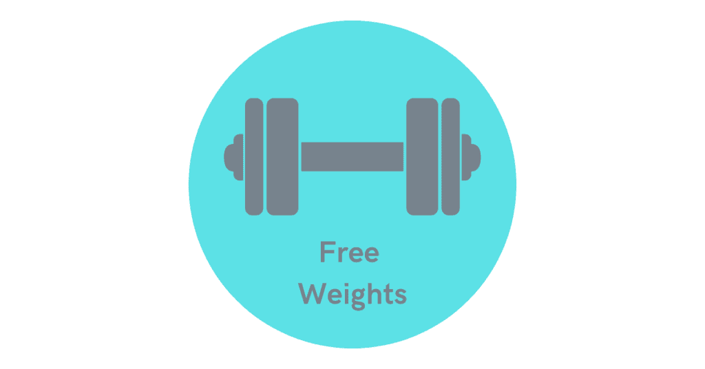 build the arms with free weights