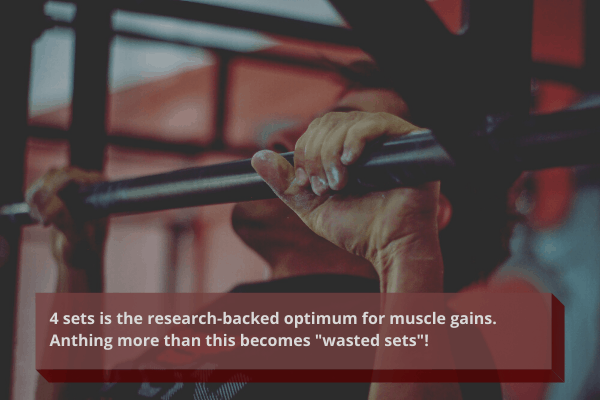 4 sets per muscle group is optimal
