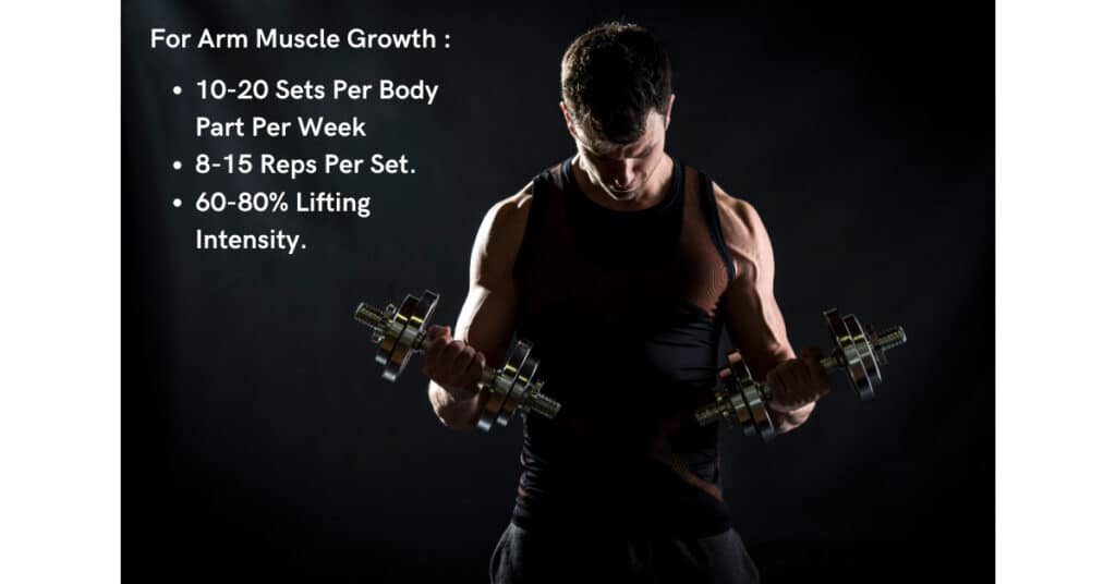 optimise your training volume when considering how to grow arm muscle