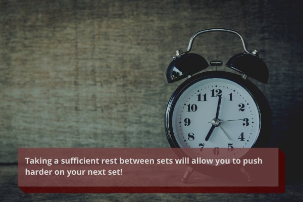 rest sufficiently during your home workouts