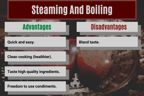 advantages and disadvantages of steaming your food