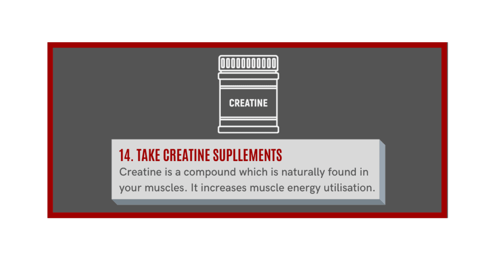 creatine will help you build muscle fast