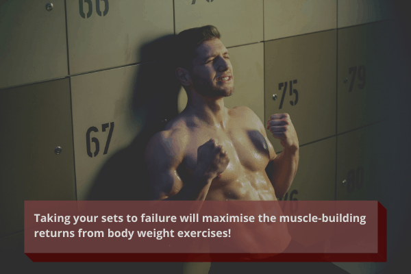 take your sets to failure when training with home workouts