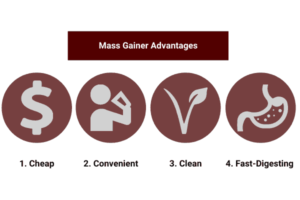 image which shows the advantages of creating your own weight gainer