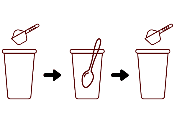 mix your protein powder and liquid slowly to avoid lumps