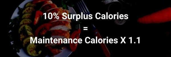 a 10% caloric surplus is required by skinny guys to get ripped