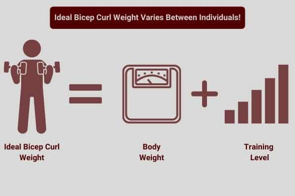 infographic to bicep curl abilities vary between individuals.