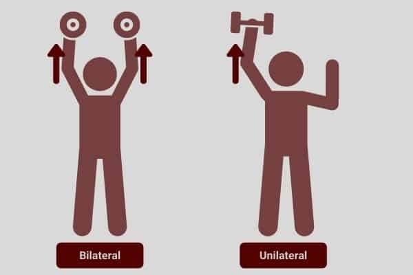 You need 2 adjustable dumbbells to perform bilateral exercises which are overall quicker and more efficient