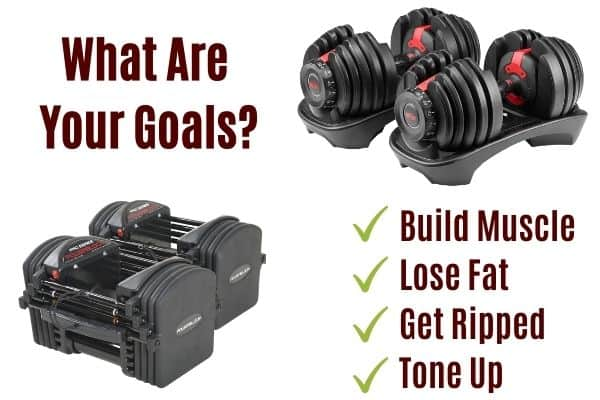 adjustable dumbbells can be used to achieve different training goals