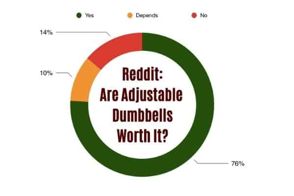 are adjustable dumbbells worth it pie chart