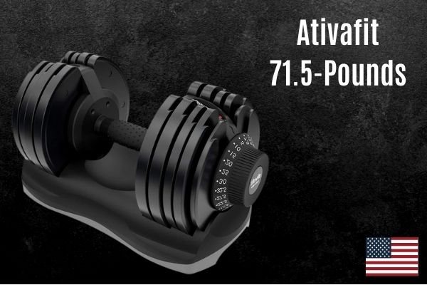 The ativafit adjustable dumbbell is a mid-range weight