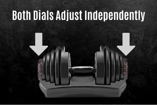 both dials on the bowflex 1090 adjust each side independently