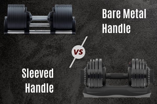 Consider handle material when buying adjustable dumbbells