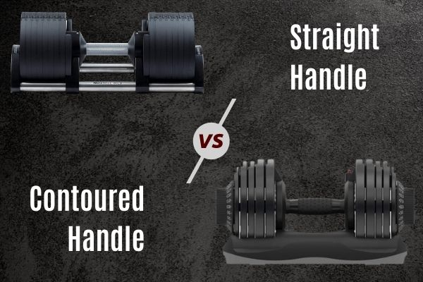 Handle shape is also important when buying adjustable dumbbells