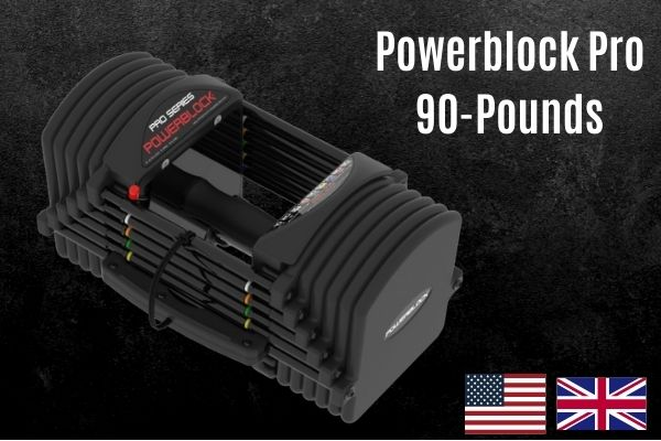 Powerblock pro is expensive for a 90lb adjustable dumbbell