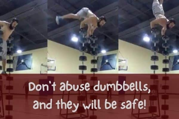 adjustable dumbbells are safe if you don't abuse them