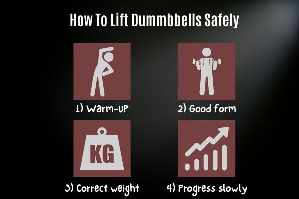 how to lift dumbbells safely
