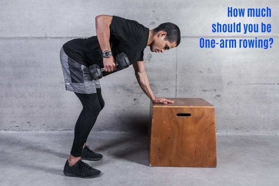 One arm dumbbell row standards