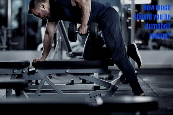 Respectable dumbbell row weight